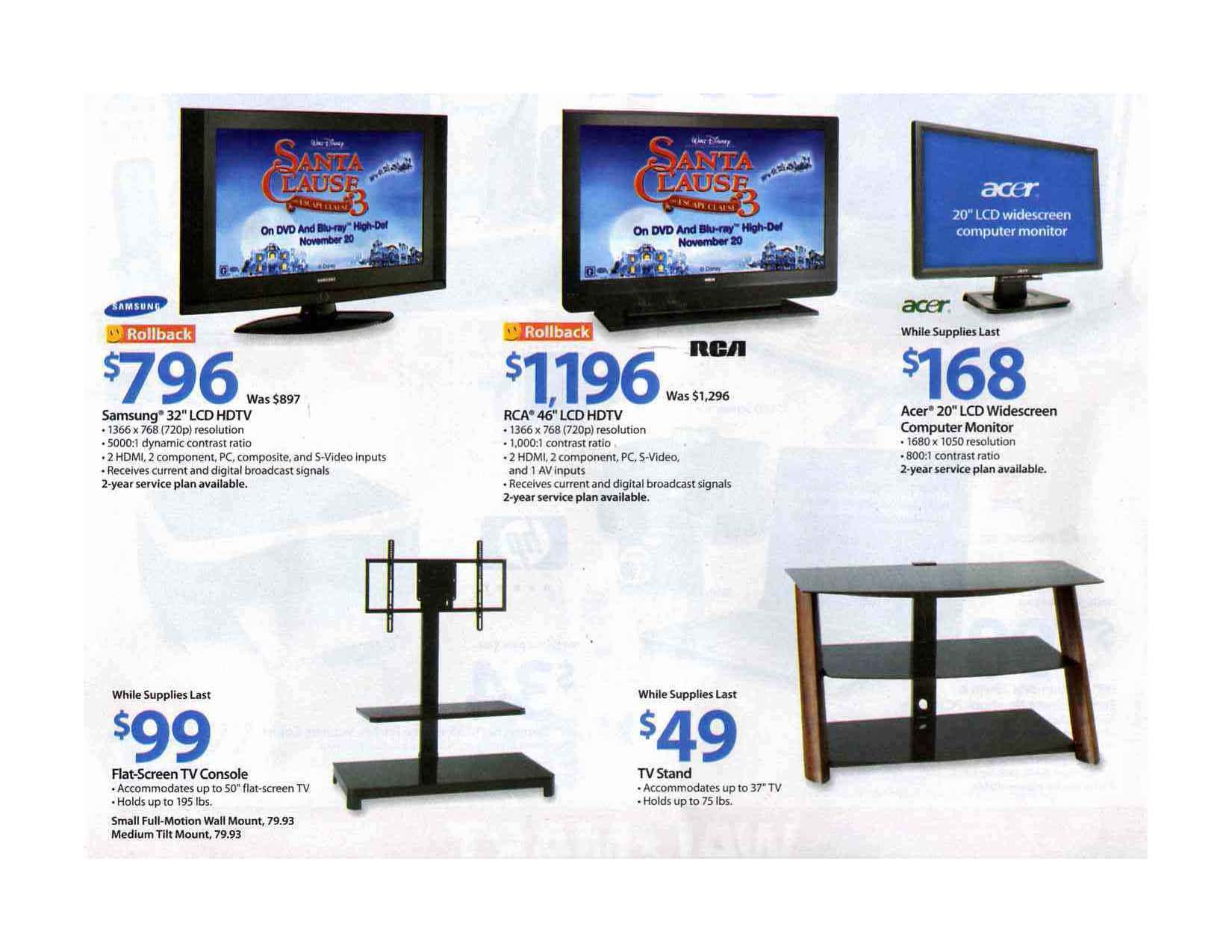 Here is the Black Friday ad for Wal-Mart, day after Thanksgiving: